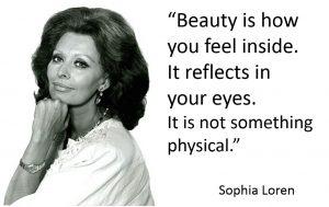 Sophia Loren Quote Beauty Over 40