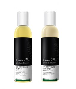 Thinning Hair Less is More Aloe Mint Volume Shampoo & Conditioner Beauty Over 40