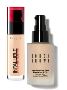The Best Foundation L'Oreal Infallible Foundation & Bobbi Brown Long Wear Even Finish Foundation Beauty Over 40