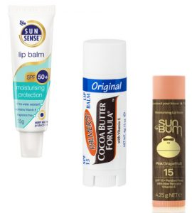 SunSense, Palmens Cocoa Butter and Sun Bum Pink Grapefruit Lip Balm Beauty Over 40