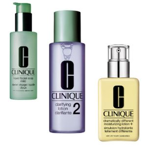 Clinique 3 Step Facial Soap, Clarifying Lotion & Dramatically Different Moisturising Loition Beauty Over 40