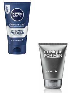 Nivea Men and Clinique for Men Face Scrub Exfoliators Beauty Over 40