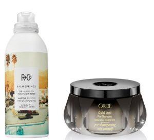 R+Co Palm Springs & Oribe Gold Lust Pre Shampoo Treatments Beauty Over 40