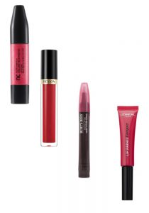 Nutrimetics & Revlon Lip Gloss, Burt's Bees Lip Oil, L'Oreal Paris Infallible Lip Paint Beauty Over 40