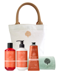 Crabtree & Evelyn Pomegranate Trio with Hand Towel Beauty Over 40