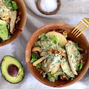 Hungry & Fussy Organic-Chicken-Salad-with-WalnutApple-Green-Goddess-Dressing Beauty Over 40