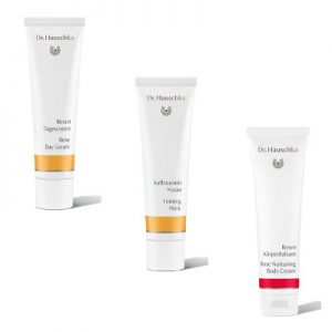 Dr Hauschka Rose Day Cream, Firming Mask and Rose Body Cream Beauty Over 40