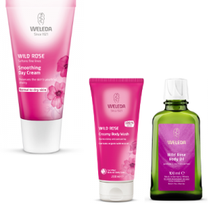 Weleda Wild Rose Day Cream, Body Wash and Body Oil Beauty Over 40