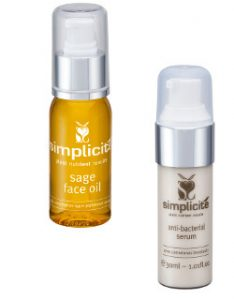 Simplicite Sage Face Oil & Acne Anti Bacterial Serum Beauty Over 40 Australia