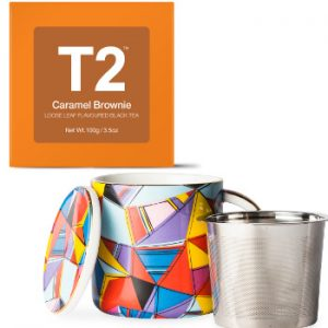 T2 Caramel Brownie Tea and Mug Infuser Duo Beauty Over 40 Australia