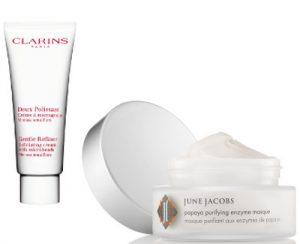 Winter Skin Exfoliators Clarins & June Jacobs Beauty Over 40 Australia