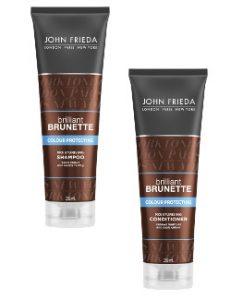 John Frieda Brilliant Brunette Colour Protect Shampoo & Conditioner Duo Beauty Over 40 Australia