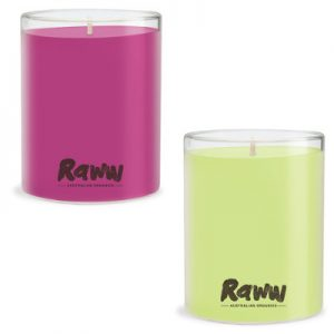 Raww Super Fragrant Deluxe Candles Pomegranate & Spiced Pear Beauty Over 40