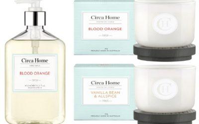 Circa Home Blood Orange and Vanilla Bean & Allspice