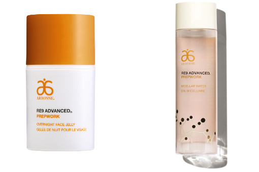 Arbonne RE9 Advanced Prepwork Overnight Face Jelly and Micellar Water