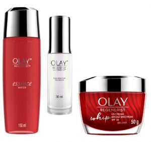 Olay Regenerist Essence Water with Luminous Treatment Essence and Whip UV Beauty Over 40
