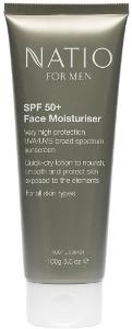 Natio Men Face Moisturiser SPF 50+ Beauty Over 40